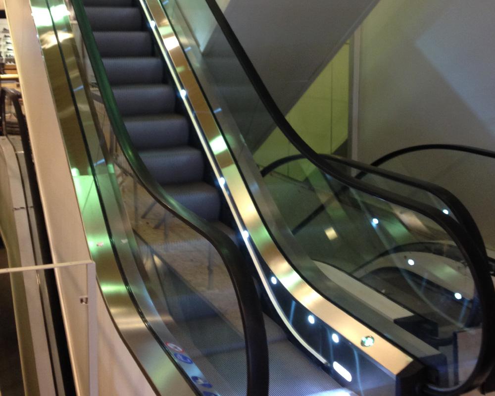 Knallen in Mariestad, new escalators