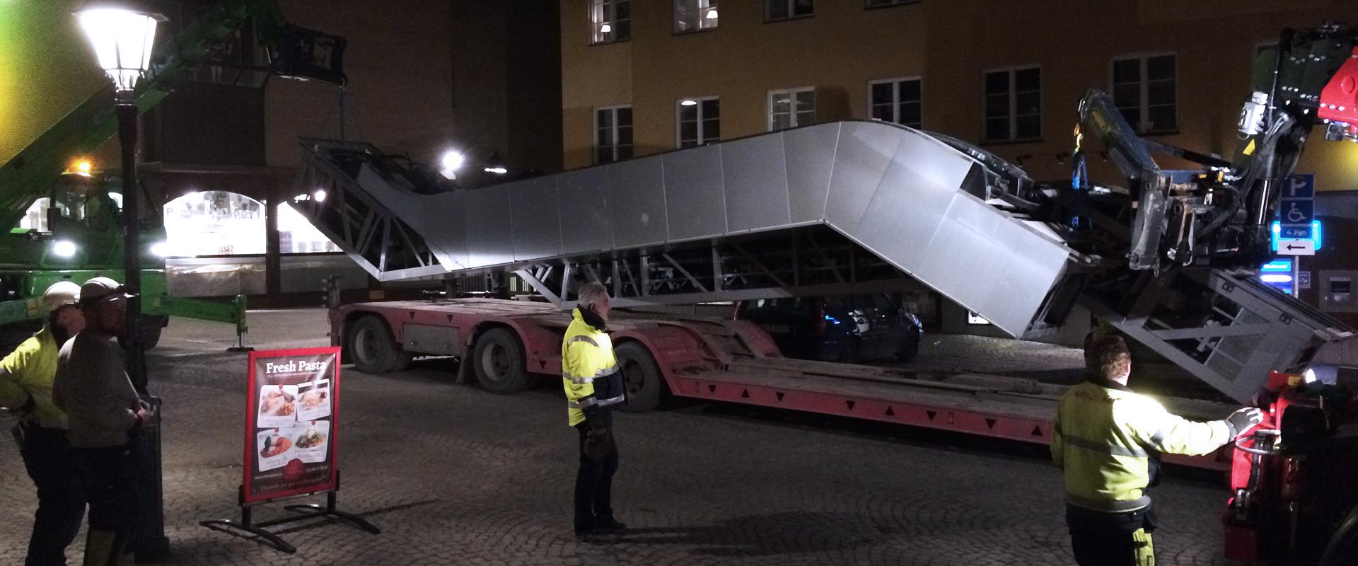Big demolition project in Uppsala